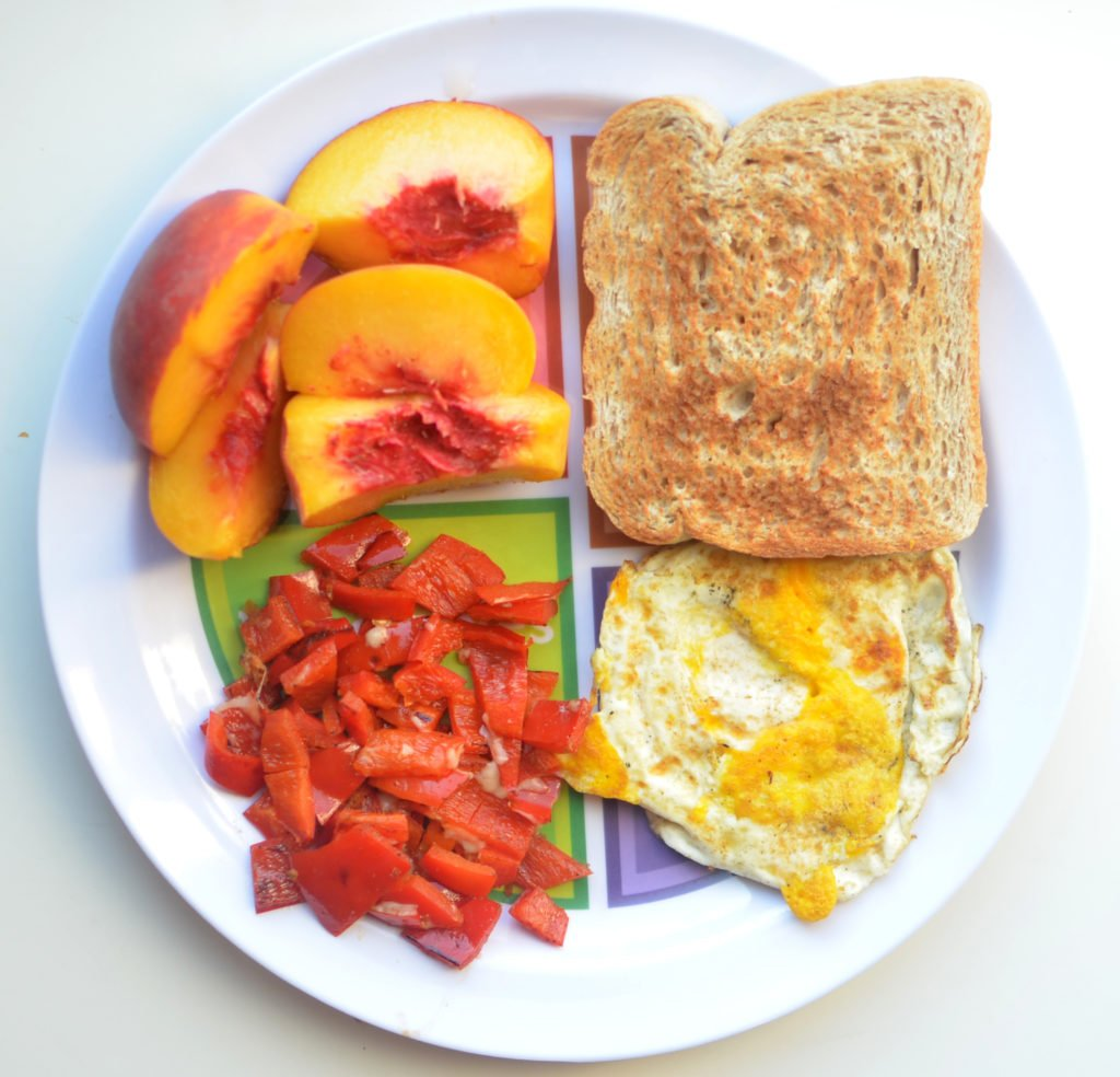 Portion plate like choose myplate breakfast idea