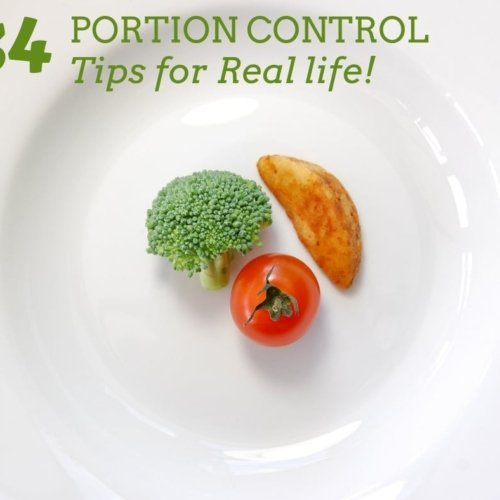 portion control tips for real life. great ideas to serving sizes