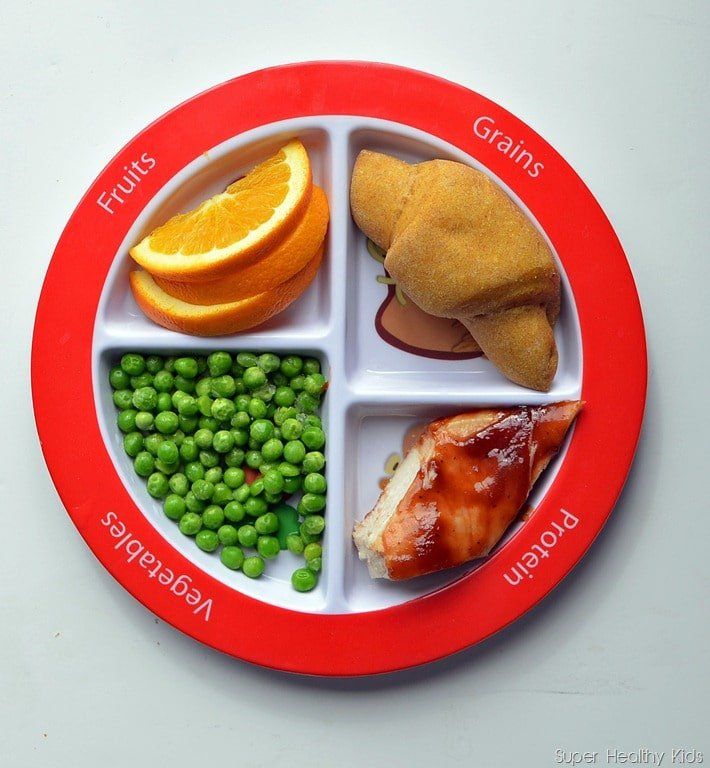 Portion control plate for dinner
