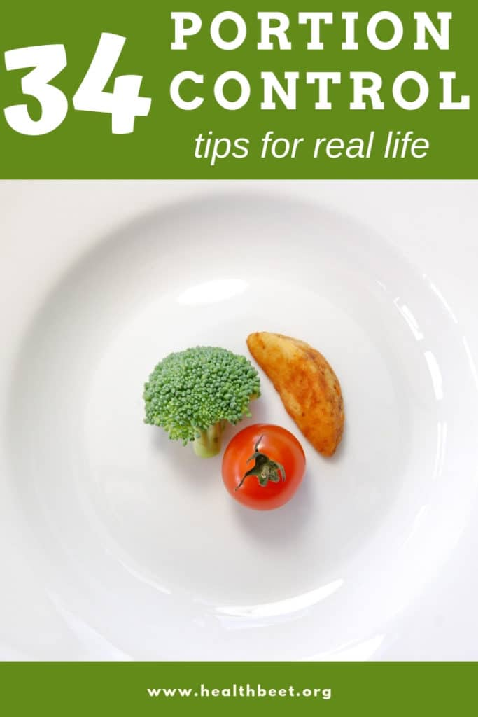 Portion control tips for real life. Here's the best list of ideas on the web.