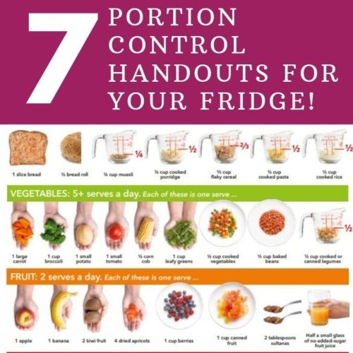 list of portion control handouts