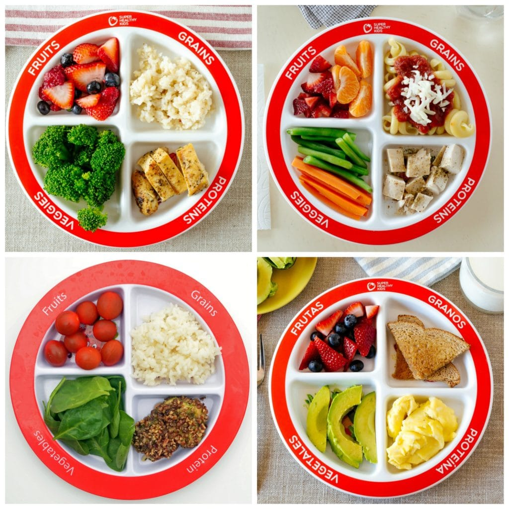 portion control plate ideas for kids meal time.