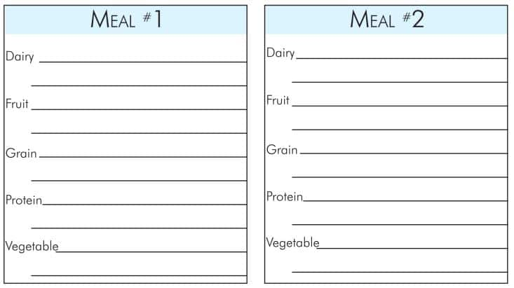 Build a healthy meal with choose myplate meal planning printable
