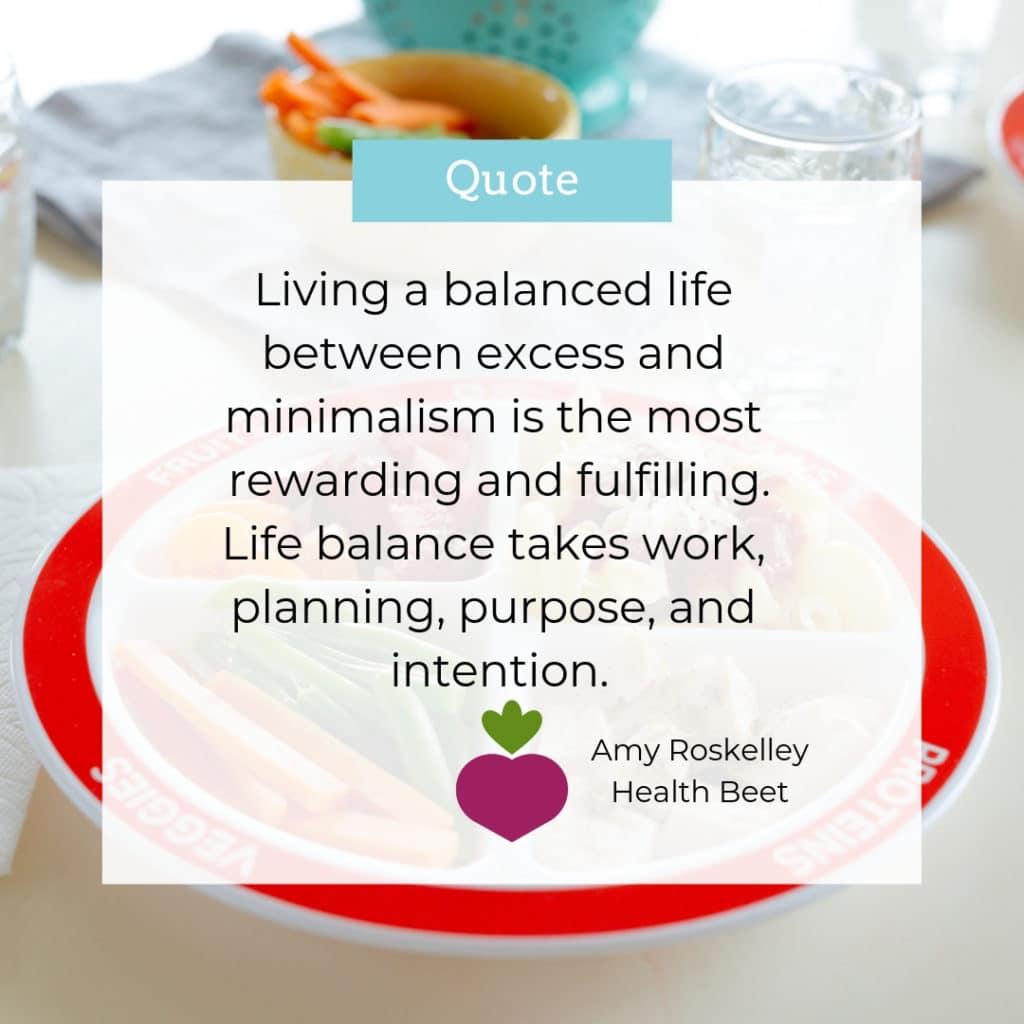 balanced life motivational quote