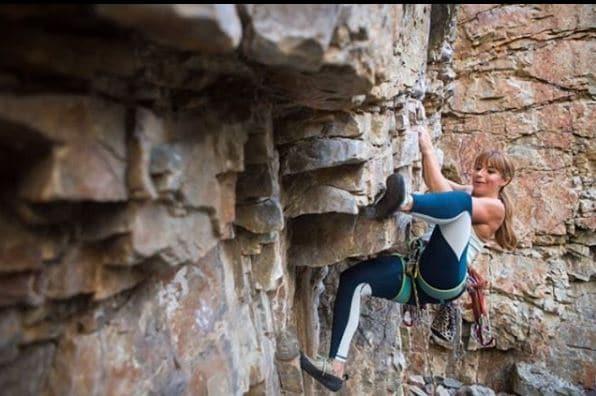 Sara smith of strong balanced solutions rock climbing