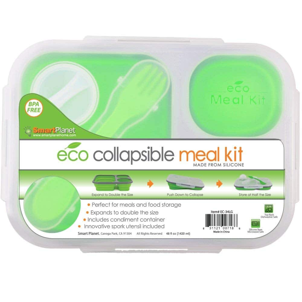 eco collapsible portion control lunch box