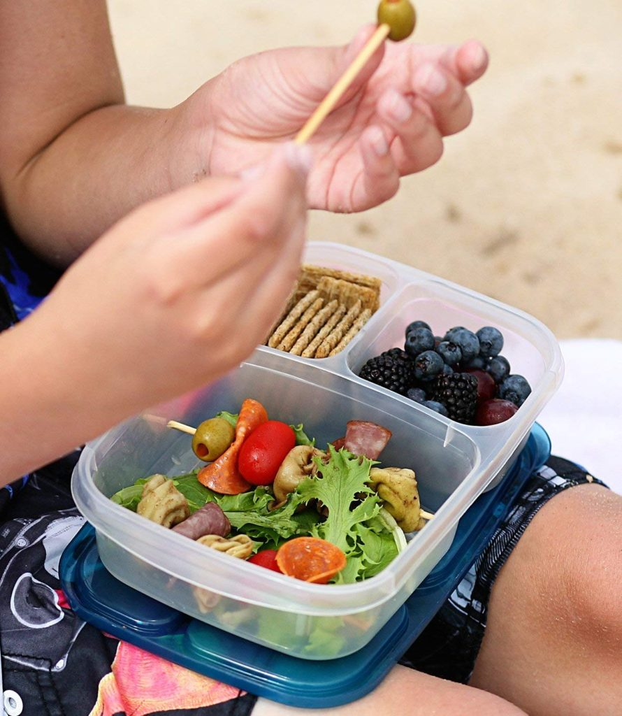 easy lunch box portable portion control container.