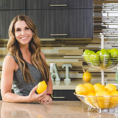 Amy roskelley from Health Beet in a kitche
