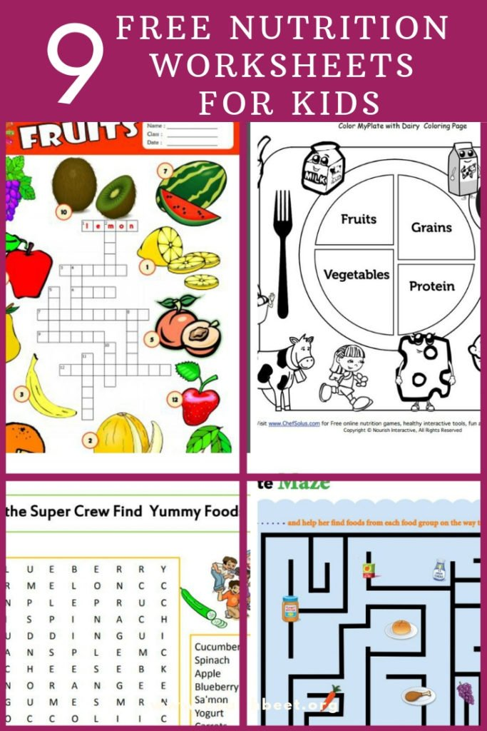 9 Free Nutrition Worksheets For Kids Health Beet
