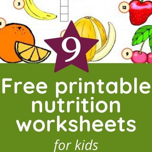 9 Free Nutrition Worksheets For Kids - Health Beet