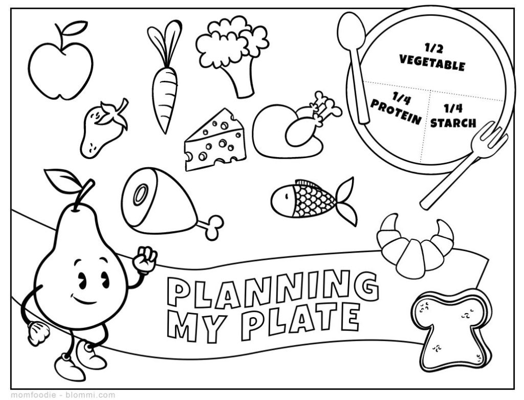 printable nutrition coloring page worksheet