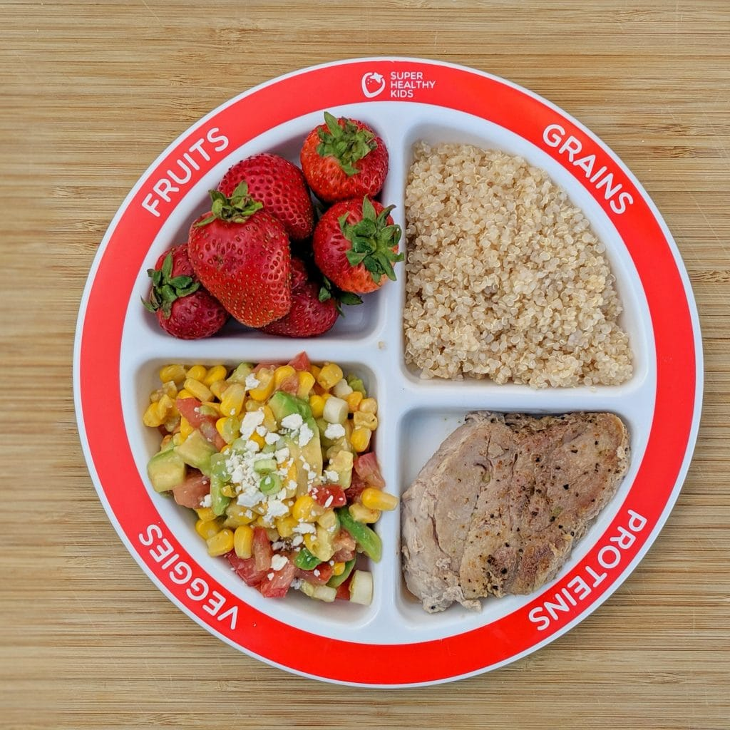 nutrition plate and portion control plate for dinner. Choose myplate