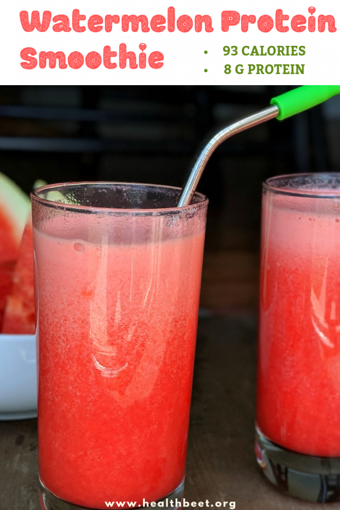 Watermelon protein smoothie