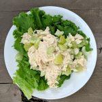 light chicken salad lettuce wraps