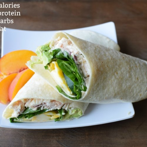 chicken wrap with nutrition info