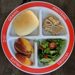 Choose myplate portion control plate for dinner