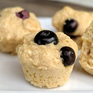 Kodiak mini muffins with blueberries