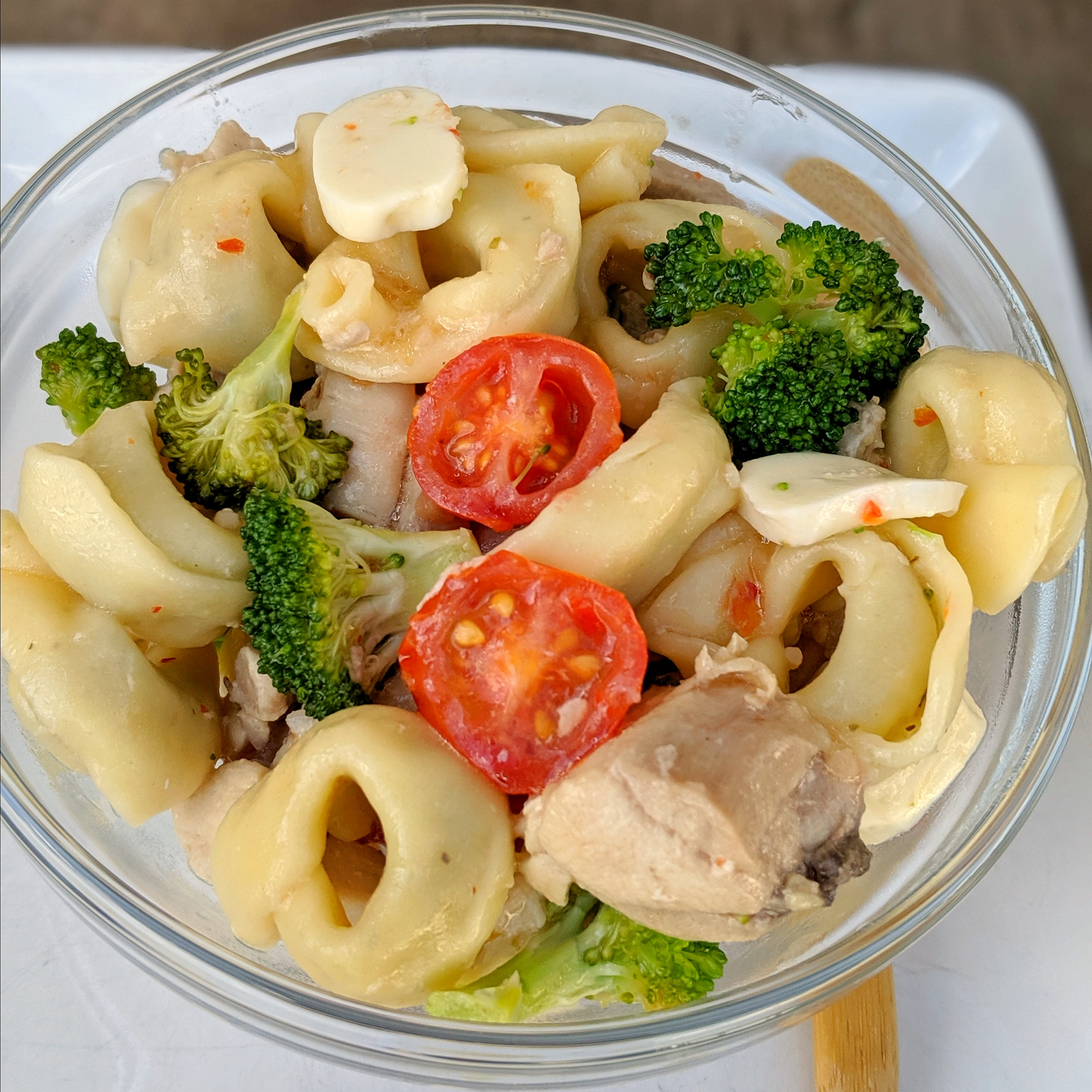 light tortellini salad