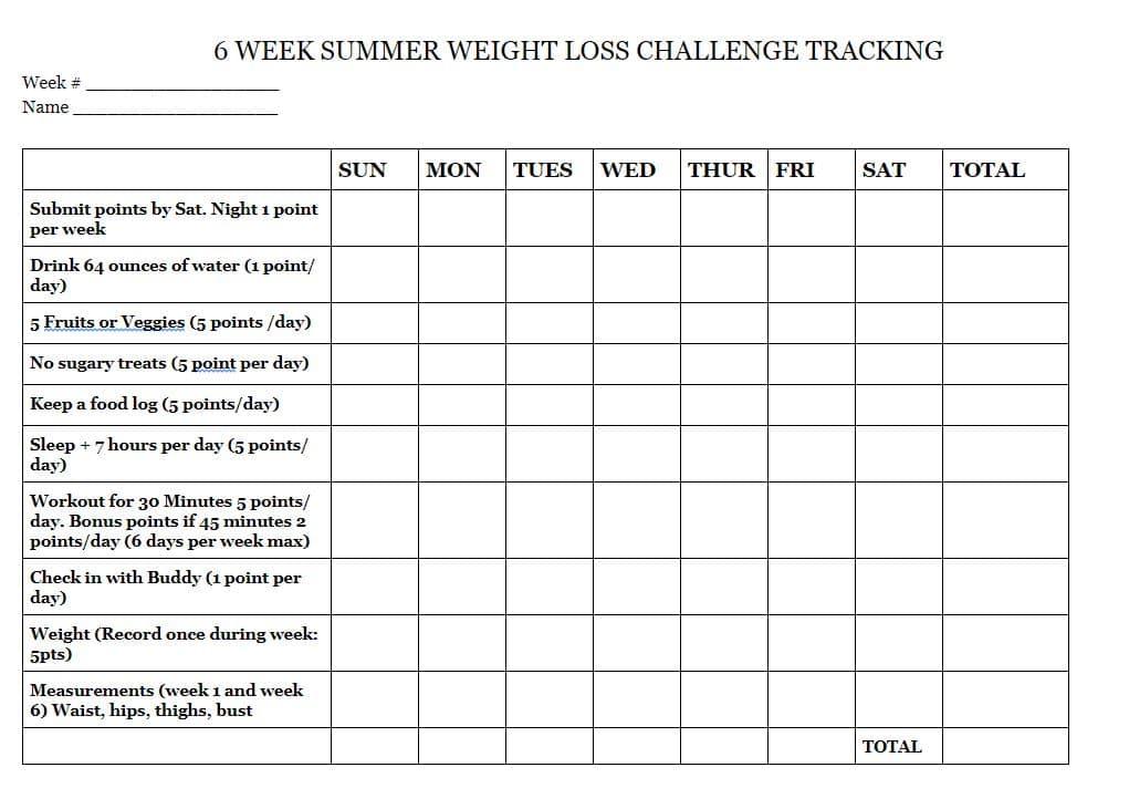 6 Week Summer Weight Loss Challenge - Health Beet