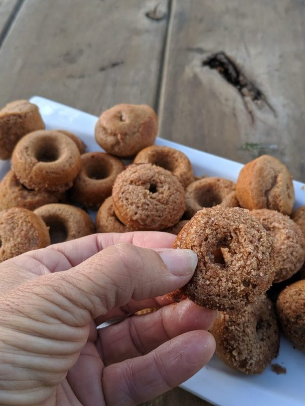 Mini homemade protein donuts