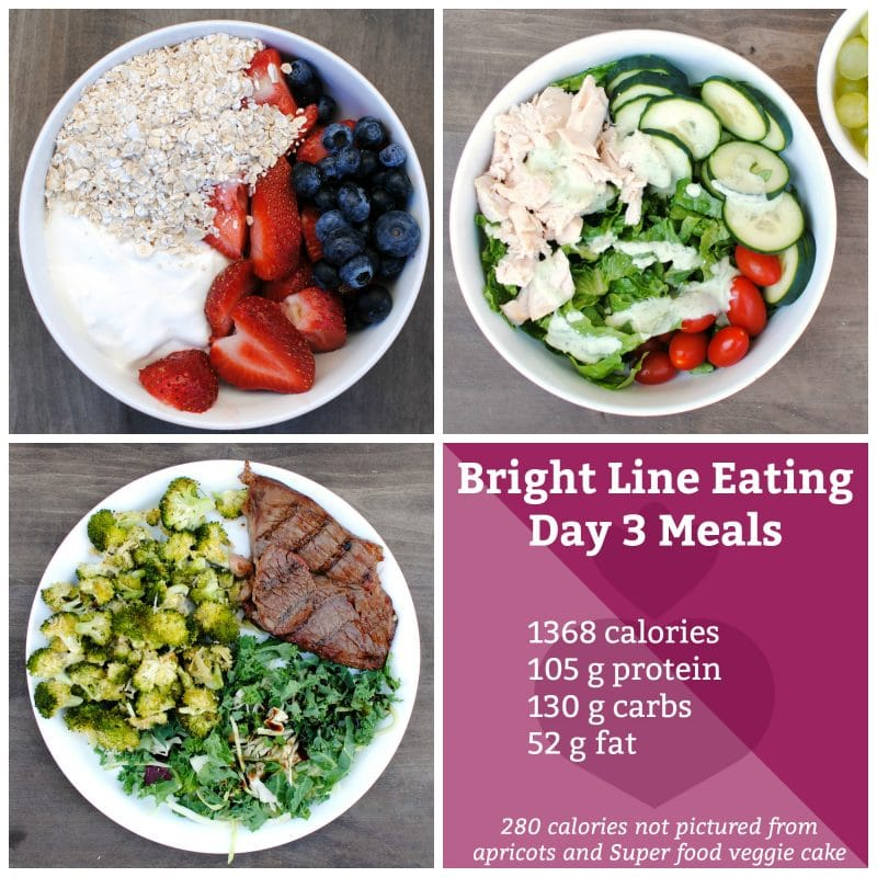 Day 3 Bright Line Eating Meal Ideas