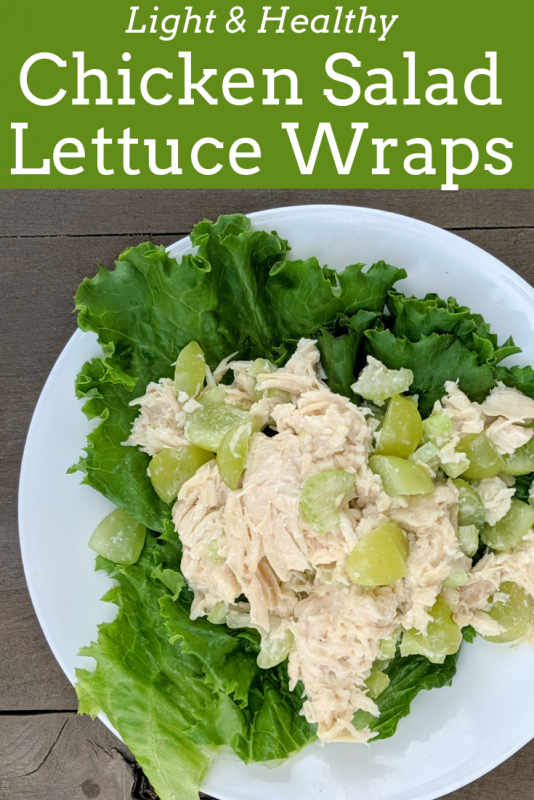 Traditional chicken salad recipe, made lighter! This still tastes as good as the original, with a fraction of the calories. Add a leaf of lettuce instead of eating your chicken salad on bread and save massive calories.
