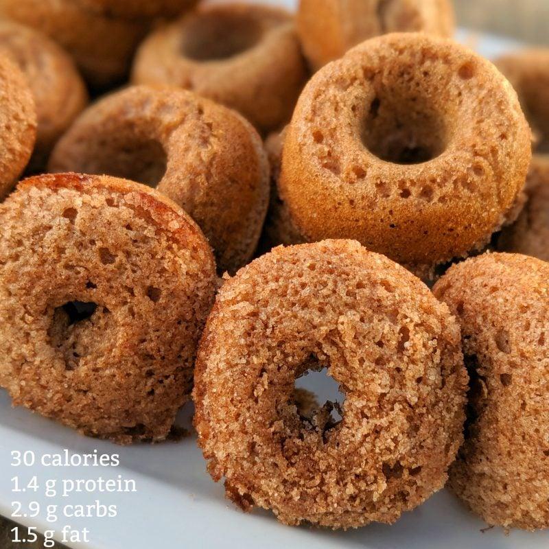 mini cinnamon protein donut recipe with nutrition data