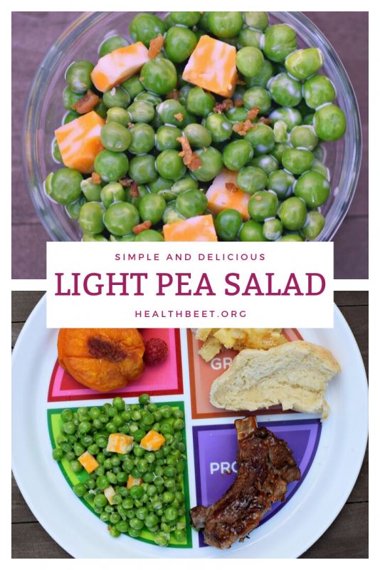 light pea salad recipe