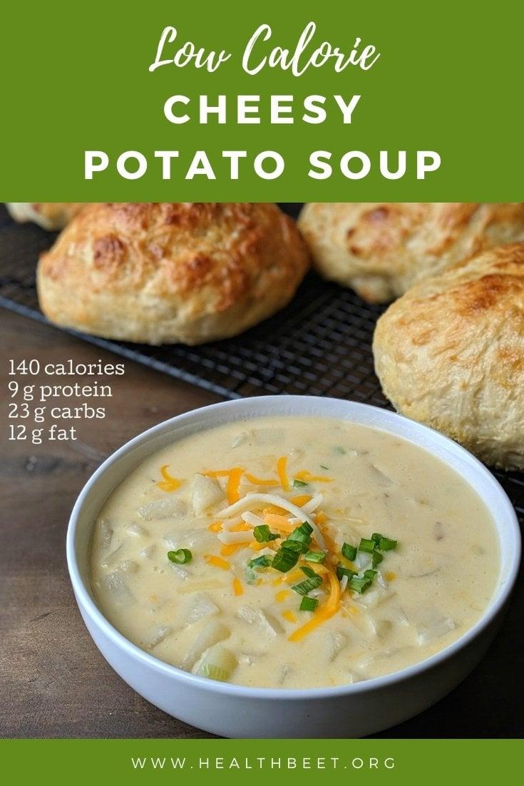 low calorie cheesy potato soup
