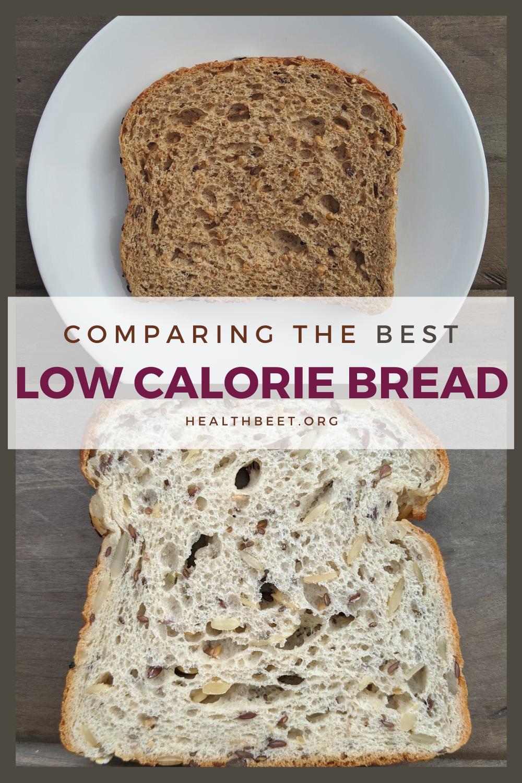 comparing low calorie bread