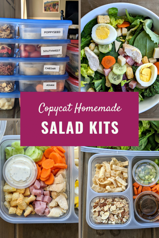 homemade salad kits