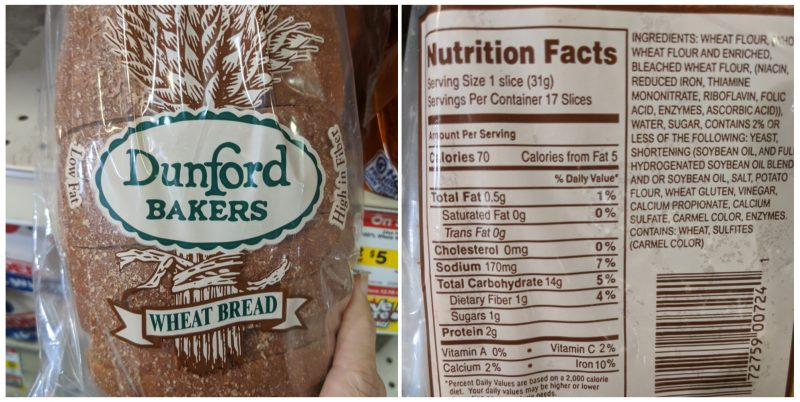 Dunford bakers wheat bread
