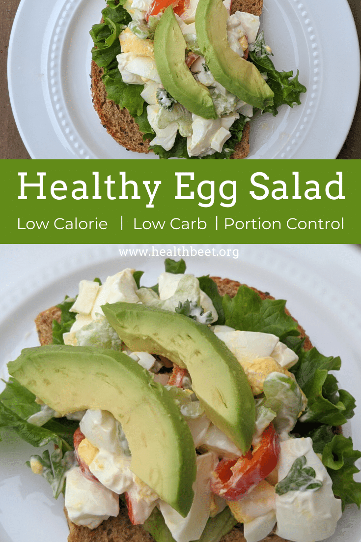 Healthy low calorie low carb egg salad sandwich