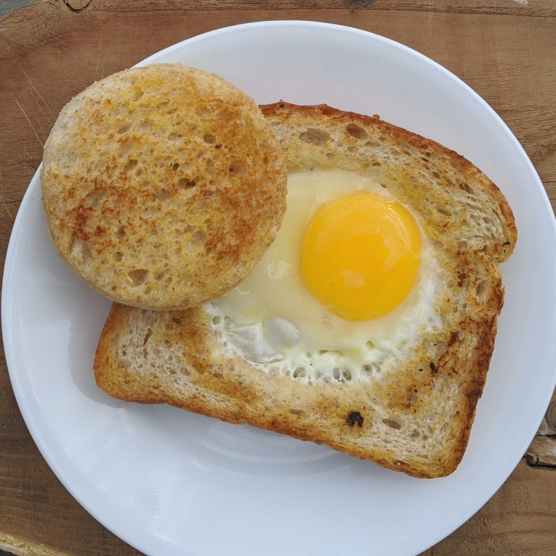 One eye monster on bran bread