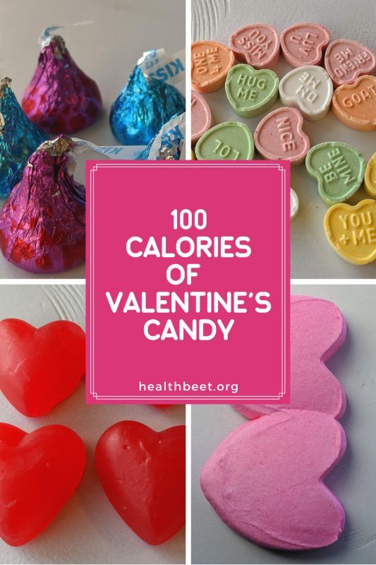 Comparing 100 calories of Valentine's candy