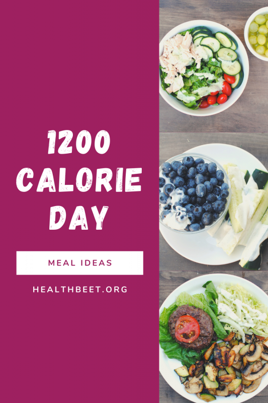 1200 calorie day with meal ideas