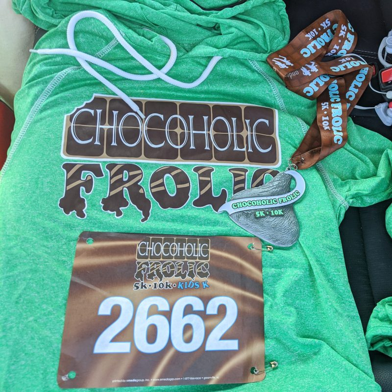 Chocoholic Frolic k5 10k and kids k shirt