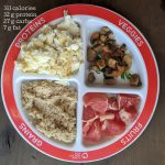portion control plate breakfast