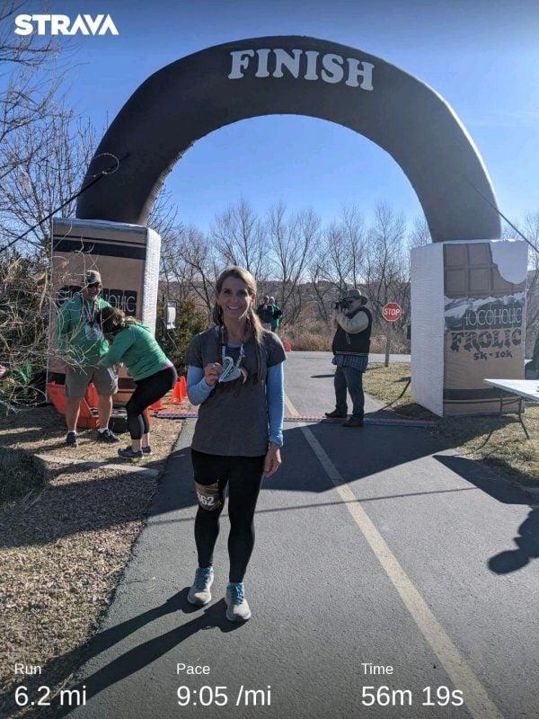 Amy Roskelley 10 K medal
