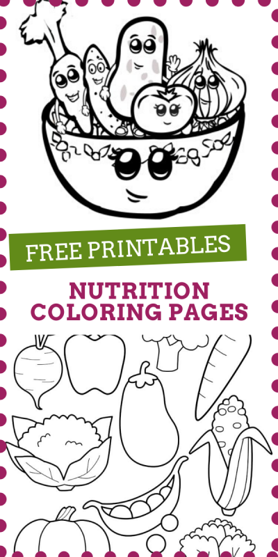 Free nutrition coloring pages to print