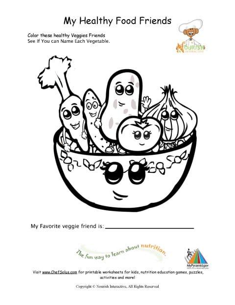 9 Free Printable Nutrition Coloring Pages For Kids - Health Beet