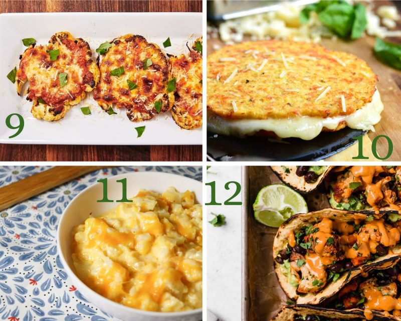 4 cauliflower recipes including fritters and mac and cheese