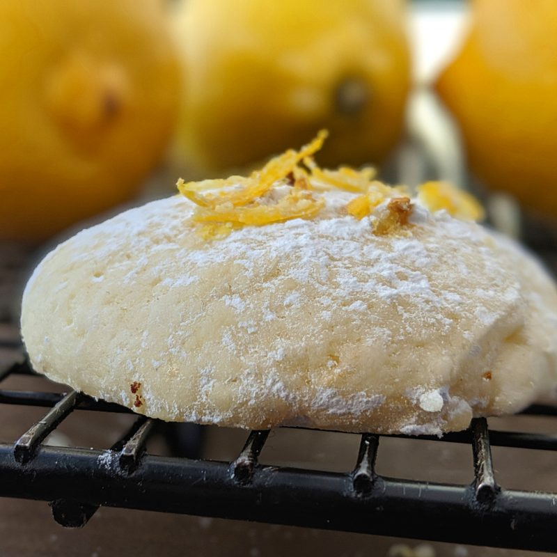 delicious low calorie lemon cookie recipe Sitting on a cooling rack
