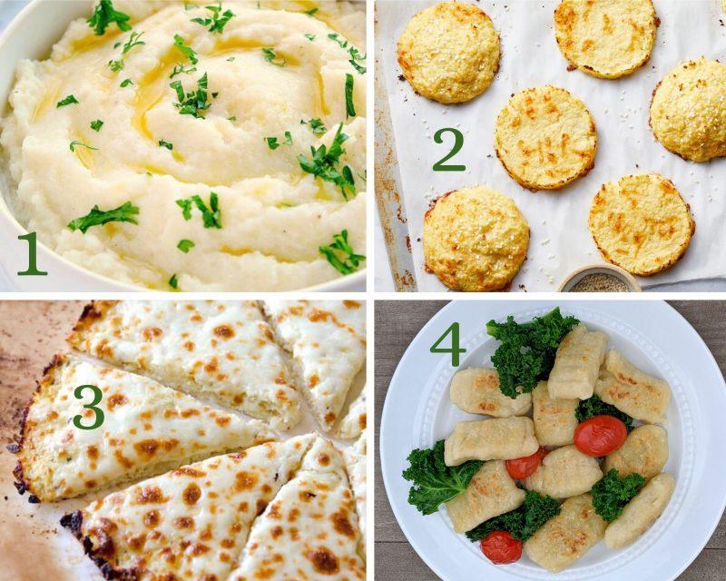 4 cauliflower recipes mashed cauliflower and cauliflower gnocchi