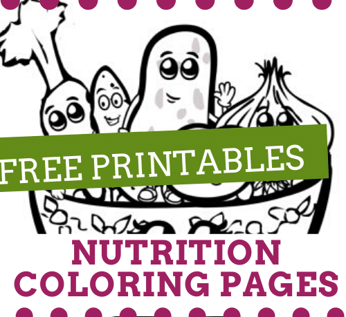 free nutrition coloring pages thumbnail