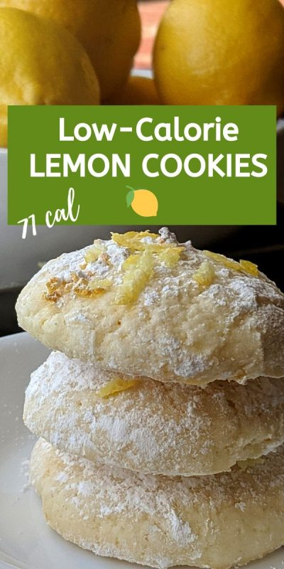 Recipe for low calorie lemon cookies only 71 calories each!