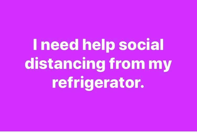 social distancing fridge meme