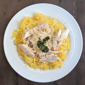Low calorie spaghetti squash and chicken recipe