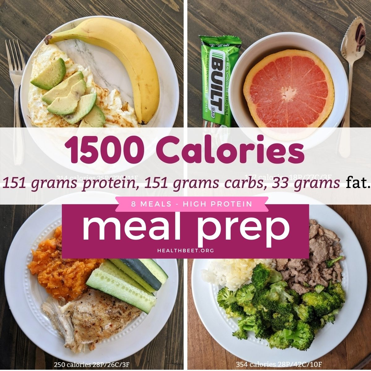 1500 macro meal plan with calories and macros