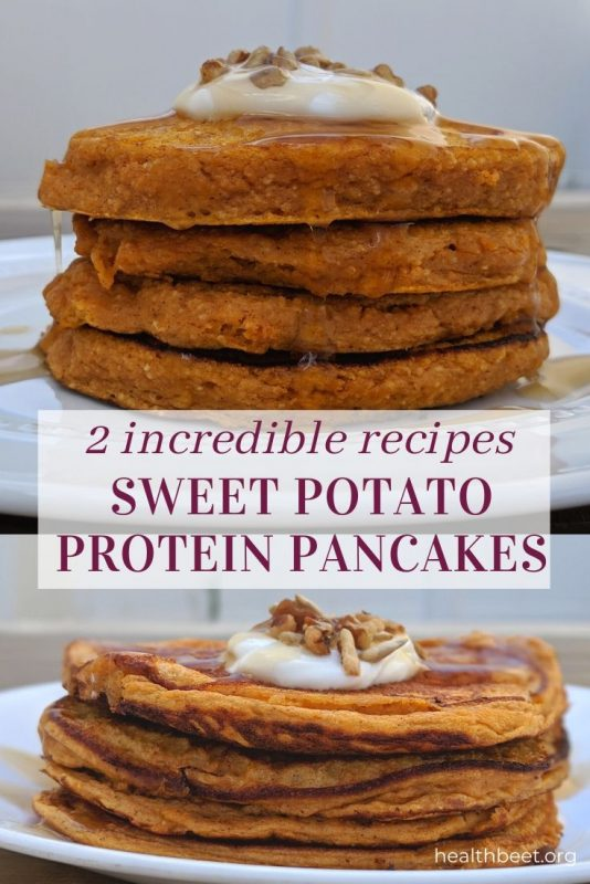 2 incredible recipes for sweet potato pancakes